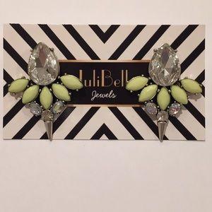 Jewelry - Fashion Statement Stud Earrings Silver Neon Yellow